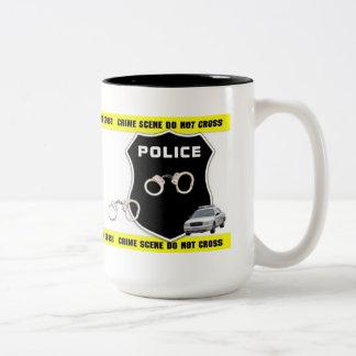 Police Officer Crime Scene Two-Tone Coffee Mug