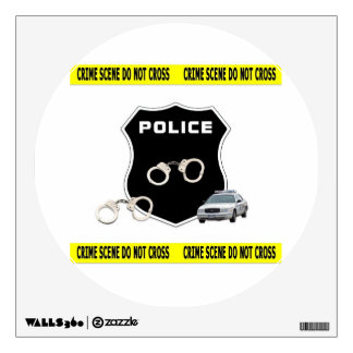 Police Officer Crime Scene Wall Sticker