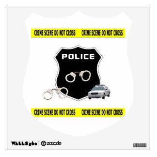 Police Officer Crime Scene Wall Sticker