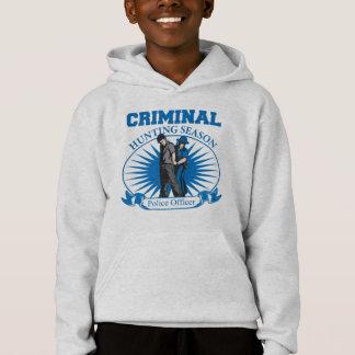 Police Officer Criminal Hunting Season Hoodie