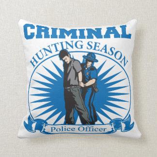 Police Officer Criminal Hunting Season Throw Pillow