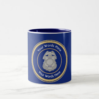 Police Officer Custom Two-Tone Coffee Mug