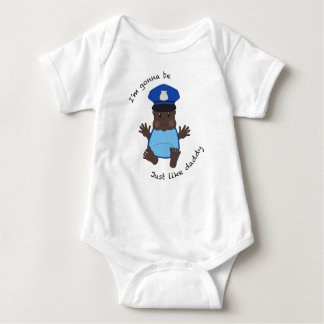 Police officer daddy baby bodysuit
