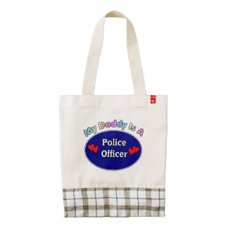 Police Officer Dads Zazzle HEART Tote Bag