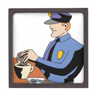 Police Officer doughnut Keepsake Box