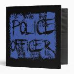 Police Officer Etched 3 Ring Binder