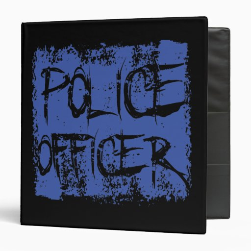 Police Officer Etched 3 Ring Binders