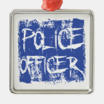 Police Officer Etched Ornament