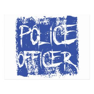 Police Officer Etched Postcard