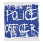 Police Officer Etched Poster