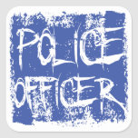 Police Officer Etched Sticker