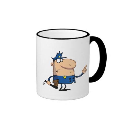 Police-officer-gestures-with-finger Ringer Coffee Mug