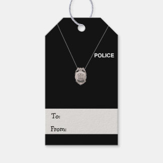 Police Officer Pack Of Gift Tags
