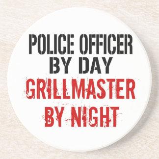 Police Officer Grillmaster Drink Coaster