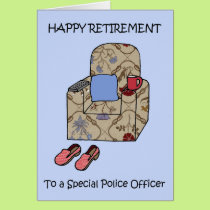 Police Officer Happy Retirement Card