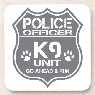 Police Officer K9 Unit Go Ahead Run Beverage Coaster