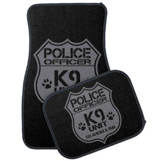 Police Officer K9 Unit Go Ahead Run Car Mat