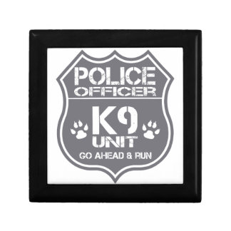 Police Officer K9 Unit Go Ahead Run Jewelry Box