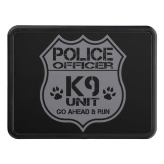 Police Officer K9 Unit Go Ahead Run Tow Hitch Cover