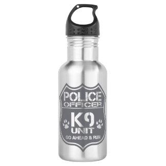 Police Officer K9 Unit Go Ahead Run Water Bottle