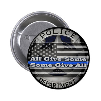 Police Officer Memorial Badge Button