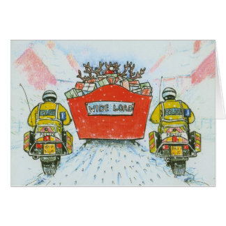 Police Officer (Motorcyclist) Christmas Card