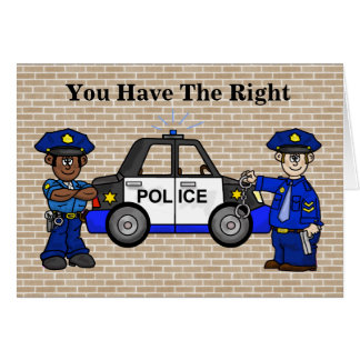 Police Officer or Cop Birthday Card