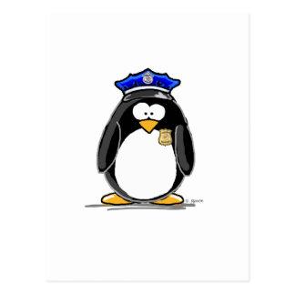 Police Officer Penguin Postcard