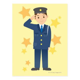 Police Officer Postcard