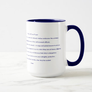 Police Officer Prayer Inspirational Faith Rescue Mug