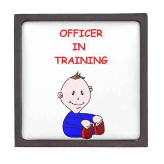 police officer premium trinket box