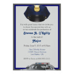 Police Officer Promotion Invitations