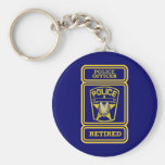 Police Officer Retired Badge Key Chains