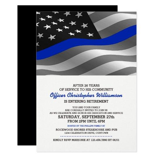Police Officer Retirement Party Invitation Zazzle Com