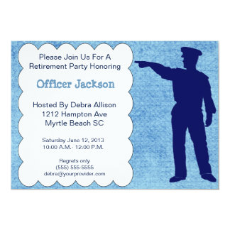 Police Officer Retirement Party Invitation