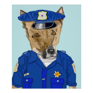 Police Officer Ruff Poster