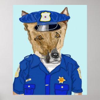 Police Officer Ruff Print