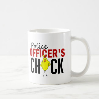 POLICE OFFICER'S CHICK CLASSIC WHITE COFFEE MUG
