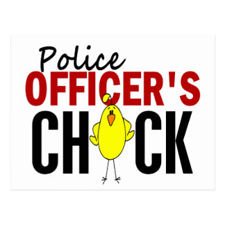 POLICE OFFICER'S CHICK POSTCARD