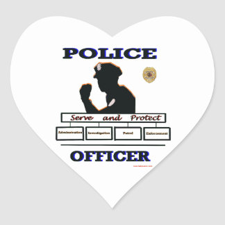 Police_Officer_Serve_Protect Heart Sticker