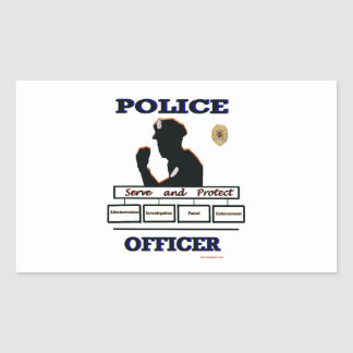 Police_Officer_Serve_Protect Rectangular Sticker