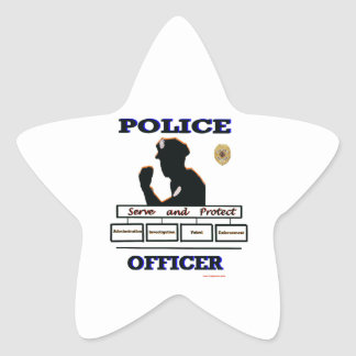 Police_Officer_Serve_Protect Star Sticker