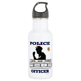 Police_Officer_Serve_Protect Water Bottle