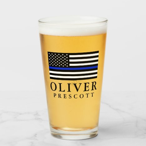 Police Officer | Service Anniversary Glass