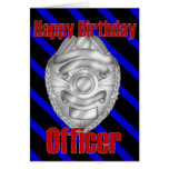 Police Officer Sheriff Badge Happy Birthday Card