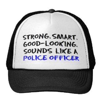 Police officer sound trucker hat