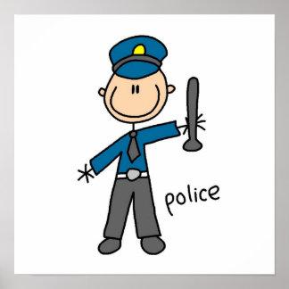 Police Officer Stick Figure Poster