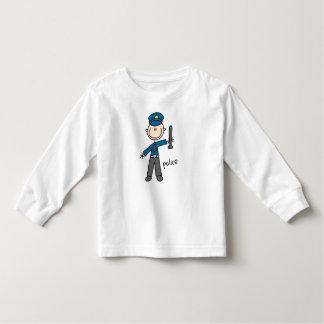Police Officer Stick Figure Toddler T-shirt