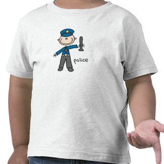 Police Officer Stick Figure T Shirts
