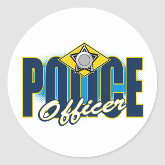 Police Officer Classic Round Sticker